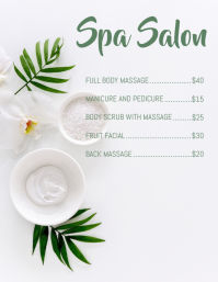 Copy of spa menu