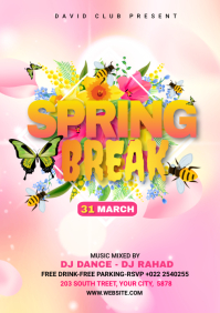 Spring Break Advert A4 template