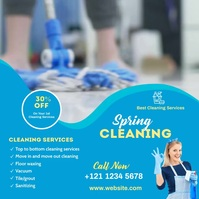 spring cleaning services template Instagram 帖子