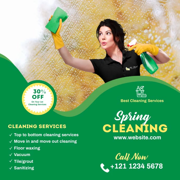 spring cleaning services template Pos Instagram