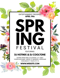 Spring Flyer (US Letter) template