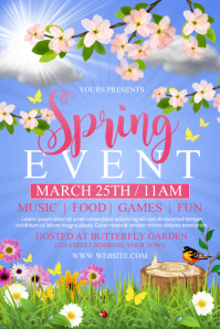 SPRING Affiche template