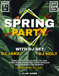Spring party Flyer (US Letter) template