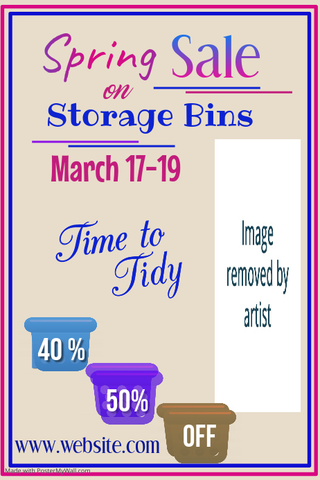 Copy of Spring Sale on Storage Bins Poster