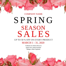 Spring season sales instagram post advertisement