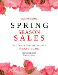 Copy of Spring season sales instagram post ad