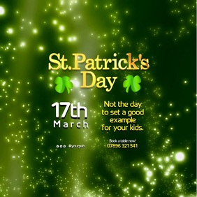 Copy of St Patrick's Day Event Poster