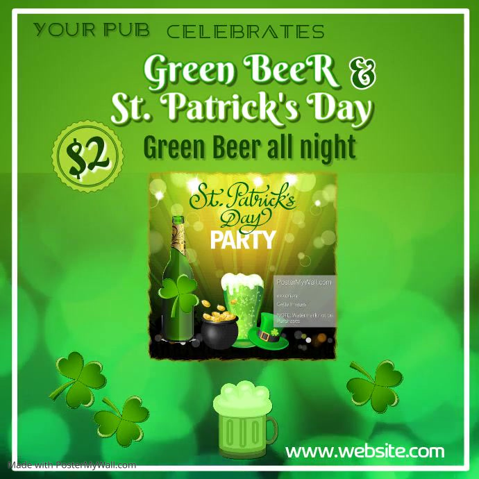 Copy of St Patricks Day Poster Template