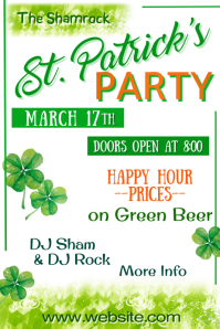 St Patricks Party Poster template