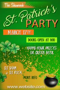 St Patricks Party Poster Плакат template