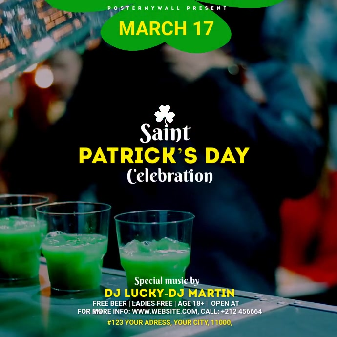 St. Patrick's Day Bar Instagram video template