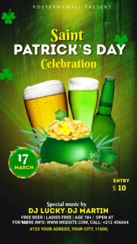 St. Patrick's Day Flyer Template Instagram Story