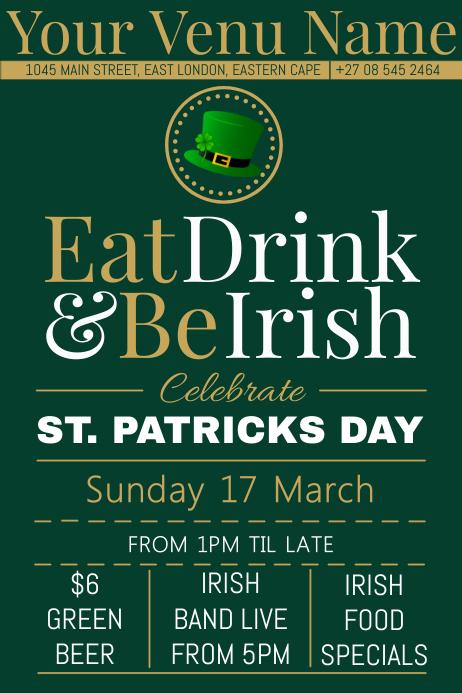 St. Patricks Day 海报 template