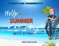 SUMMER PARTY Folder (US Letter) template
