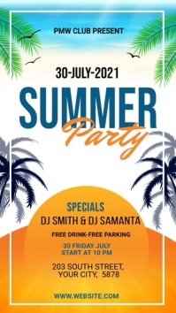 summer Party Flyer Instagram Story template