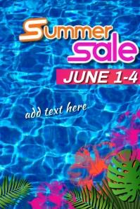 Summer Sale 海报 template