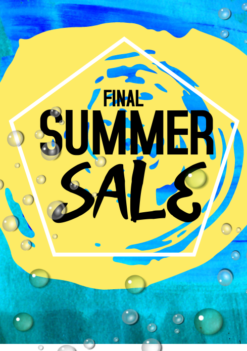 summer sale flyer template A4