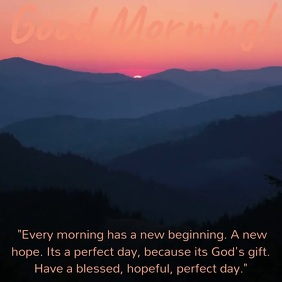 Good Morning Quote Video Template Vierkant (1:1)