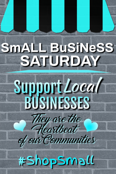 Support Local Business Poster Plakat template