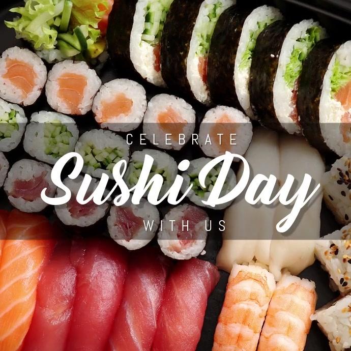 sushi Instagram-opslag template