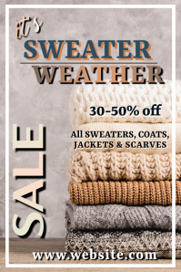 Sweater Weather Poster Cartaz template
