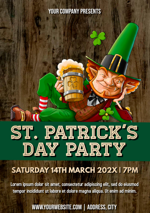 Template st patrick's day A4