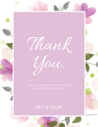 Thank You Card Flyer (US-Letter) template