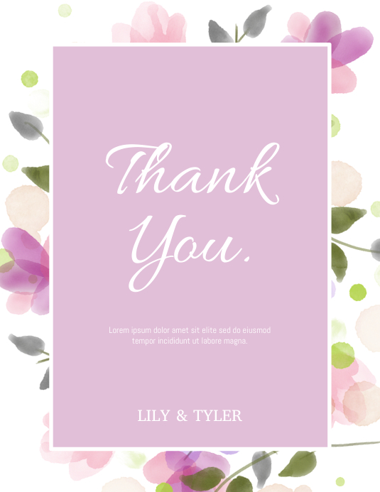 Thank You Card Pamflet (Letter AS) template