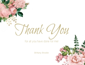 NEW thank you card