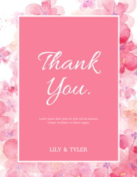 Thank You Card Volante (Carta US) template