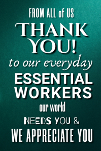 Copy of Thank You Essential Workers Poster