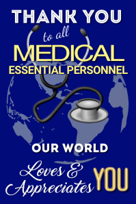 Copy of Thank You Medical Personnel Poster