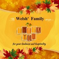 Thank you thanksgiving card poster Сообщение Instagram template