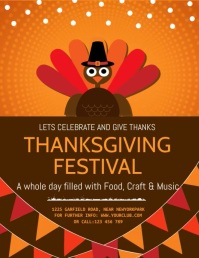 thanksgiving, thanksgiving sale, turk Flyer (US Letter) template