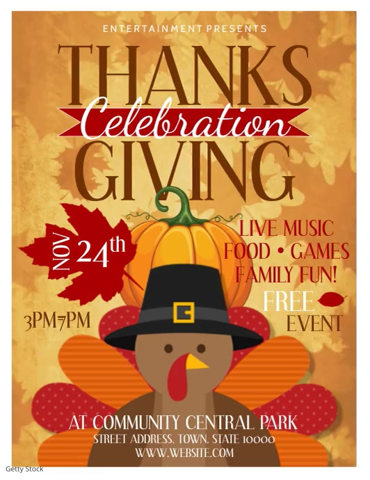 Thanksgiving Flyer (US-Letter) template