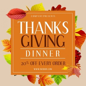 THANKSGIVING Publicación de Instagram template
