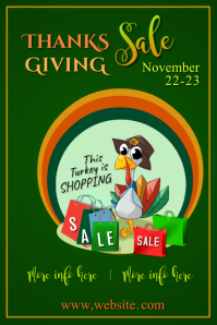 Copy of Thanksgiving Sale Poster