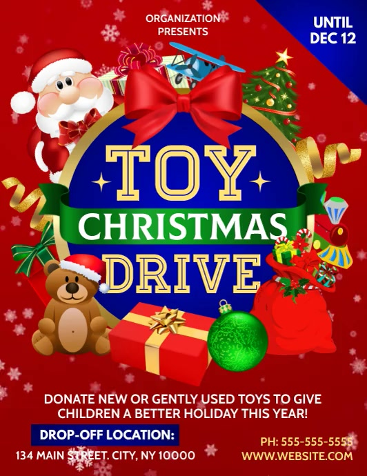 TOY DRIVE Pamflet (Letter AS) template
