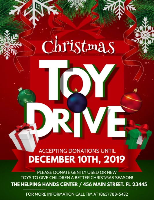 Toy Drive Flyer (Letter pang-US) template