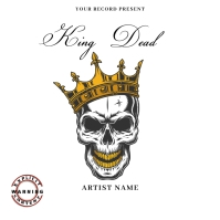 king dead Mixtape/Album Cover Art Обложка альбома template