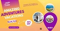 Travel & Tour Ads Gambar Bersama Facebook template