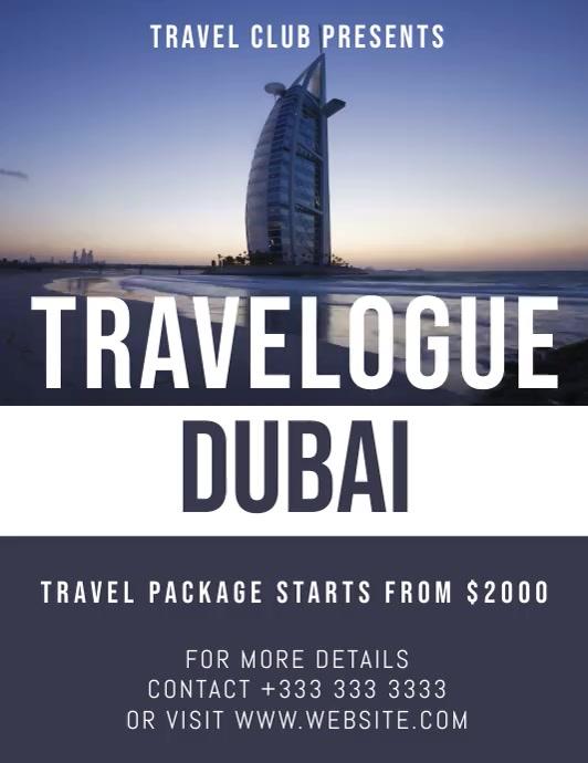 travel Pamflet (Letter AS) template