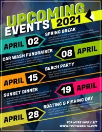 Upcoming Events Flyer (US Letter) template