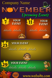 Upcoming Events Poster โปสเตอร์ template