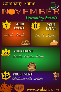 Upcoming Events Poster template
