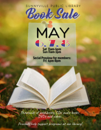 Copy of used book sale flyer template