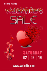 Copy of Valentine's Sale Poster Template