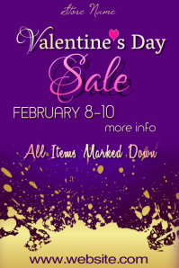 Copy of Valentine Sale Poster Template