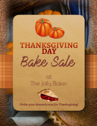 Customize this Thanksgiving Bake Sale Special Flyer