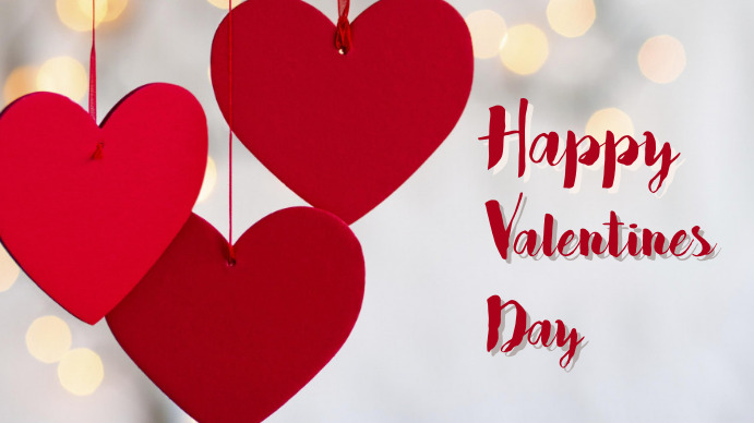 valentines day11 Digitale display (16:9) template